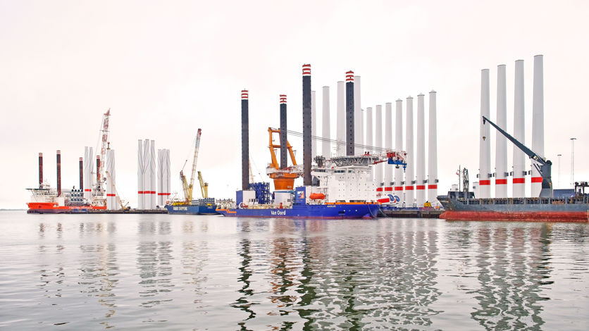 Offshore wind in the port of Esbjerg