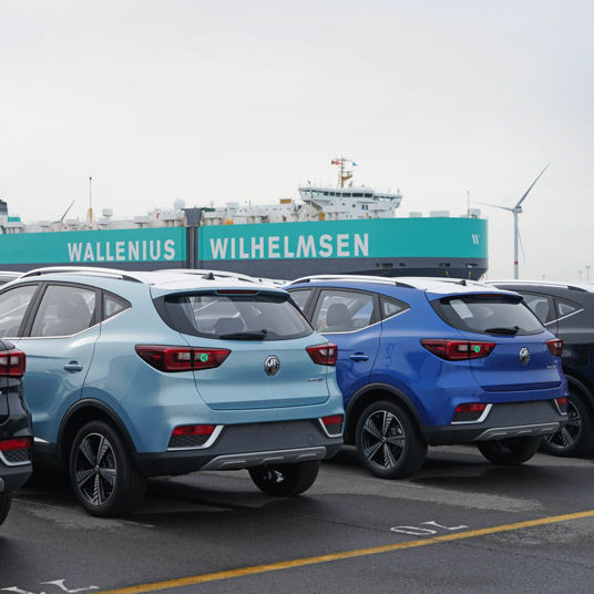 MG SAIC in Zeebrugge