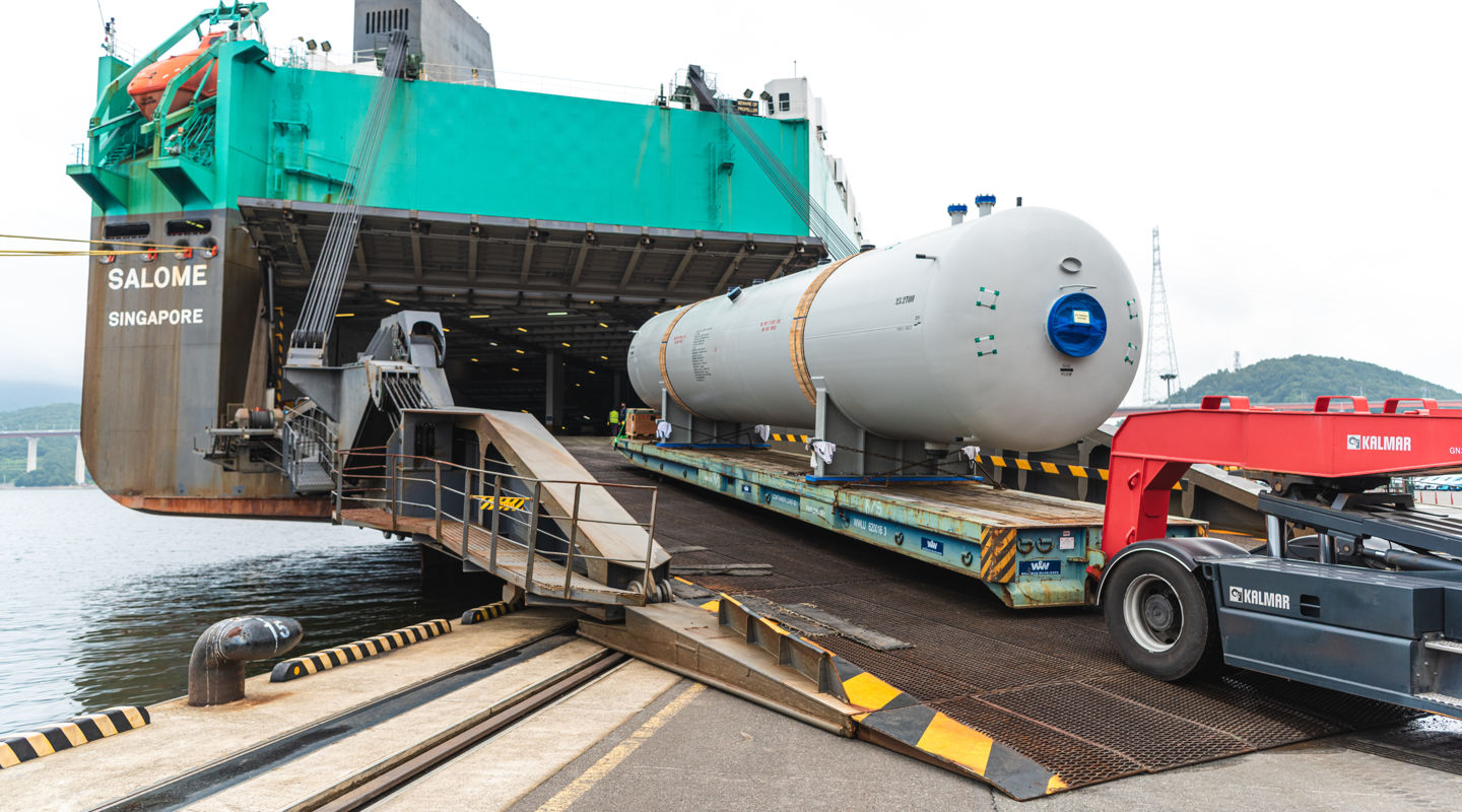 RoRo is a great choice for shipping breakbulk